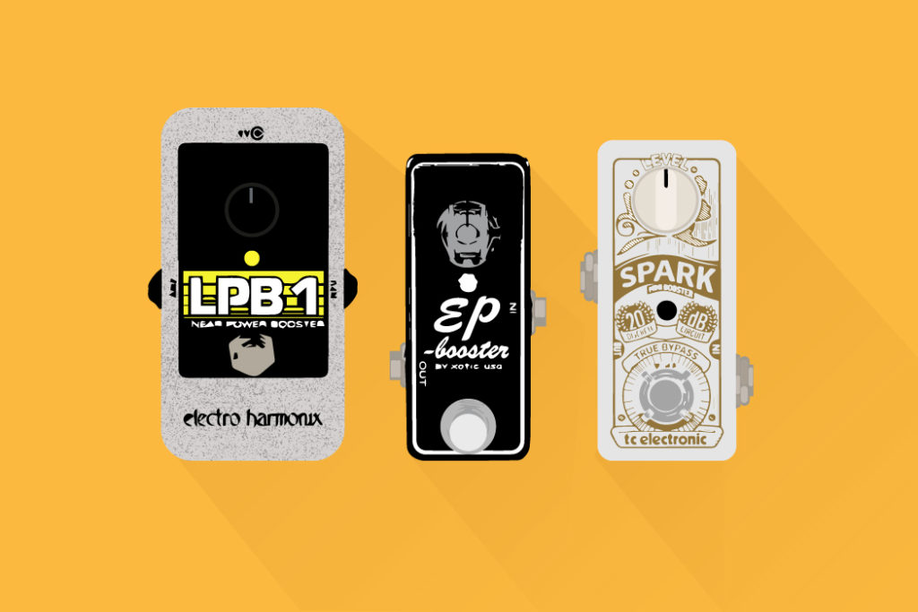 boost pedals electro harmonix lpb-1 , ep booster , tc electronics spark boost pedals