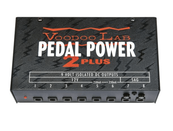 voodoo lab pedal power 2 plus power supply for guitar fx pedals