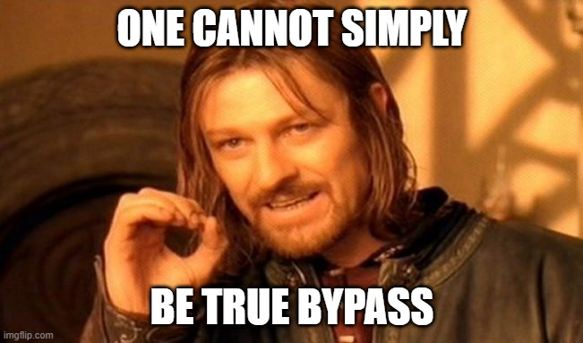 Lord of the rings true bypass meme
