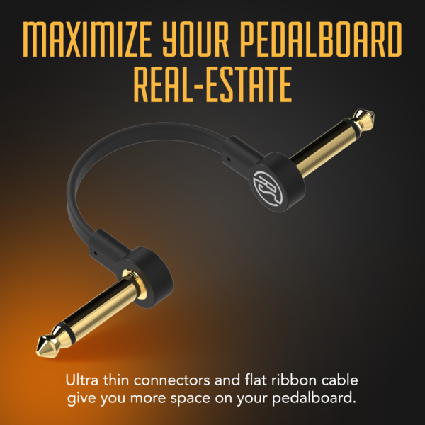 Flat Patch cable infographic Maximize your pedalboard real state