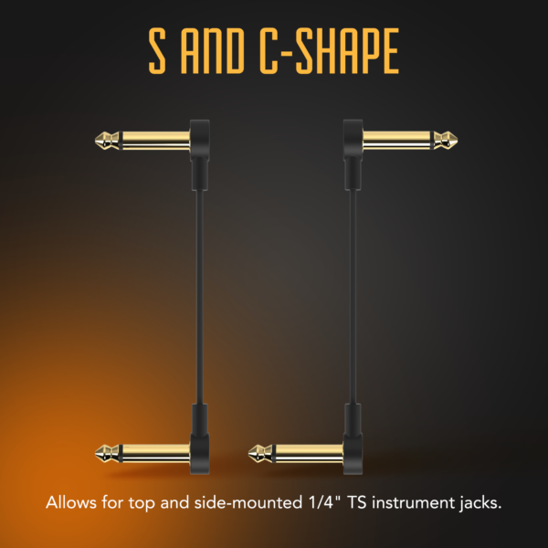 Flat Patch cable infographic S and C shape