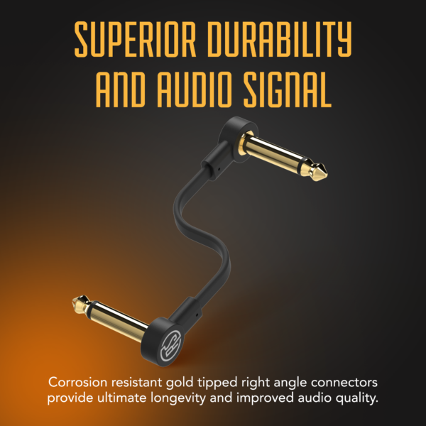 Flat Patch cable infographic superior durability