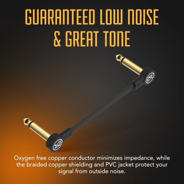 Flat Patch cable infographic low noise